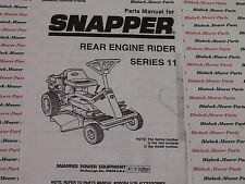06087 Snapper Series 11 Rear Engine Rider Parts Manual