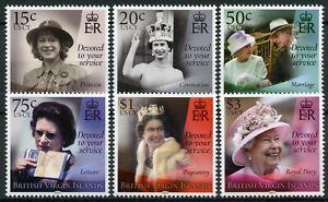 BVI Royalty Stamps 2021 MNH Queen Elizabeth II 95th Birthday 6v Set