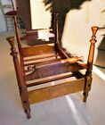 Vintage Doll Furniture Four Poster Bed - Solid Cherry Wood