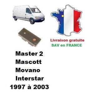 Boitier de désactivation antidémarrage Renault Master 2 phase 1 Movano Interstar