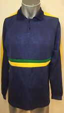 Vintage Made In Australia COVO SPORTS long Sleeve Soccer Jersey Green Gold Blue