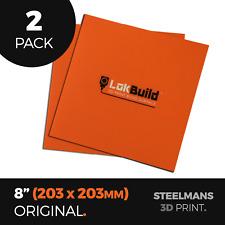 """PACK OF 2 x LokBuild : 3D Print Build Surface - 8"""" (203 x 203mm)"""