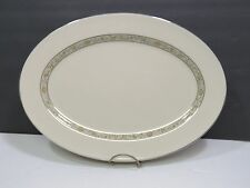 "Lenox SPRINGDALE PLATINUM 15 3/4"" Oval Serving Platter Medium"