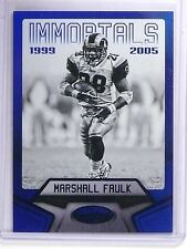 2016 Panini Certified Mirror Blue Immortals Marshall Faulk #D37/50 #125 *62042