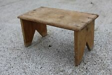 New listing Antique Small Wooden Seat Stool Bench or Plant Stand Display