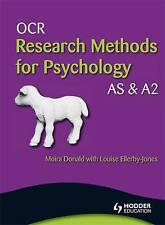 OCR Research Methods for Psychology AS & A2, Donald, Moira, Ellerby-Jones, Louis