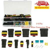 224x 1-6Pin Auto Car Waterproof Electrical Wire Cable Connector Way Plug + fuse