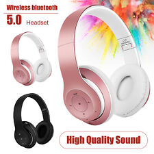 Bluetooth Wireless Headset Over Ear Noise Cancelling Headphones Stereo Earphones