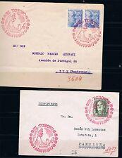 España. 3 sobres circulados por correo cerificado y un frontal