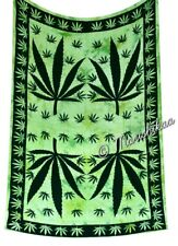 Cannabis Tapestry Twin Marijuana Wall Hanging Hippie Throw Weed Leaf Wall Decor