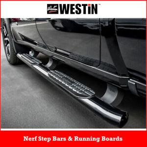 "Westin Pro Traxx 4"" Oval Nerf Step Bars for 19-21 Silverado Sierra 1500 Crew Cab"