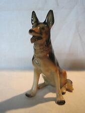 Vintage ceramic porcelain German Shepherd dog figurine, AK Grassau Germany