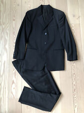 Armani suit - 40 - Made In Italy - black w v fine pinstripe