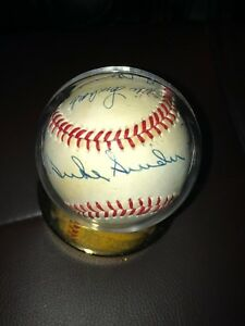 Brooklyn Dodgers Hall of Fame Autographed Baseball JSA Certified