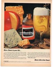 1965 Carling BLACK LABEL Beer with Bleu Cheese Cheddar Vtg Print Ad