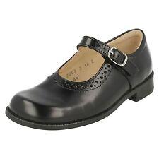 Startrite Louisa Infant Girls UK 6 E Narrow Black Leather Buckle School Shoes