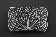 Modello RETTANGOLARE NERO Celtic Metal Cintura Fibbia gaelico scozzese