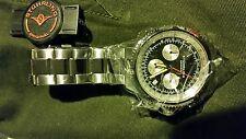 Stuhrling Original Men's 669B.01 Monaco Date Stainless Steel Link Bracelet Watch