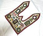 Vintage Banjara Antique Door Valance Hand Embroidery Heavy Beaded Tapestry Decor