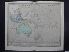Antique Map 1845, Oceanie (Oceania, Australia) R7#48