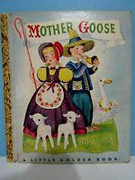 """VTG.1942 A LITTLE GOLDEN BOOK """"MOTHER GOOSE"""" COLOR ILLUSTRATIONS, CLEAN VG"""