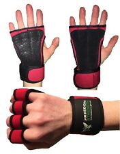 Rouge Crossfit Gants D'entraînement paume protectors guards pour Fitness,