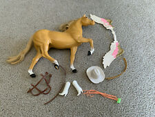 1980s Mattel Barbie Doll Horse Dallas? Horse Saddle Accessories As Seen Hat +