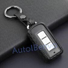 Carbon Fiber Textured Car Key Case For Mitsubishi Outlander ASX RVR Accessories