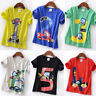 Toddler Kid Baby Boy Girl Loose Short Sleeve Cartoon Tops T-Shirt Blouse 1-6Y US