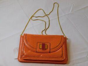 Jessica Simpson Libby JS7270 Orange Peel clutch crossbody purse organizer ID NWT