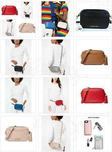 Michael Kors Mott Pebble Leather Convertible Small Camera Crossbody Belt Bag