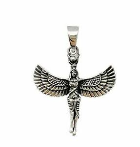 925 Sterling Silver Egyptian Figure Pendant for Women and Men