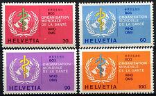 Svizzera World Health Org. 1975 sg#lh36-9, 30c - 100c Gomma integra, non linguellato #d45865