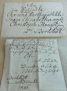 Gevatterbrief Berlstedt 1846: Dorothea Tufts Loads Elisabeth Main As Patin