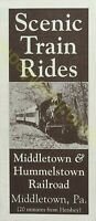 Vintage Travel Brochure Scenic Train Rides Middletown & Hummelstown Railroad PA