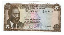 Kenya 5 Shillings 1-7-1971 aUNC (B377)