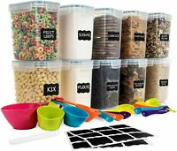 SPACE SAVER Airtight Food Storage Containers Set [Set of 10] 1.6L /54oz $44.99