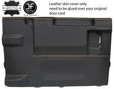 Tan Stitch PORTELLONE PORTA CARD LTHR Copertura Per Land Rover Defender 90 03-17 3DR