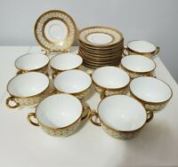 COALPORT TIFFANY&CO 1 CUP AND 1 SAUCER 24 K GOLD HAND DECORATED