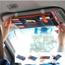 Car Blue Sun Visor Shield Board Storage Bag Phone Card Pocket Organizer For BMW
