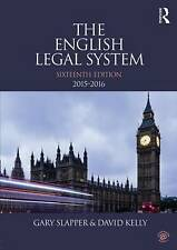 The English Legal System 2015-2016 by Gary Slapper and David Kelly (eds)