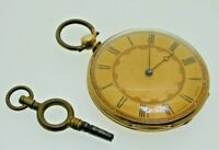 18ct Gold Pocket Fob Watch Lecomte Geneve Manual With Swivel Key Spares Repairs