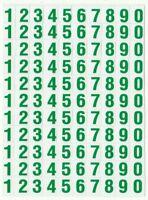 PLANCHE 14X10,5CM DE 110 AUTOCOLLANT STICKER CHIFFRE VERT FONCE DIM. 1X0,6CM