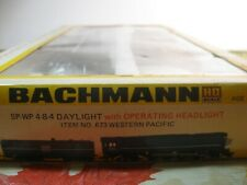 VINTAGE BACHMANN ho WP 4-8-4  STEAM LOCOMOTIVE SHELL & COAL TENDER   #673