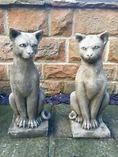 Sale RRP £450 Pair (2) Of Cats Garden Ornament Latex & Fibreglass Mould