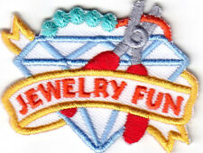 """JEWELRY FUN""  - Iron On Embroidered Patch/Hobby, Craft, Beads,Gems"