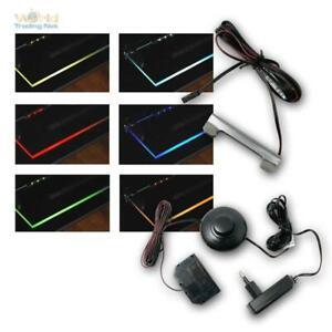 LED Glaskantenbeleuchtung Komplettset m Trafo, Glasbodenbeleuchtung Metall-Clips