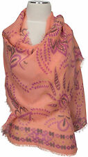 Sommer Schal Apricot Lila Modal Floral bedruckt Print, nectarine stole shawl