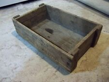 National Mfg. Co. Builders Hardware wooden crate or box