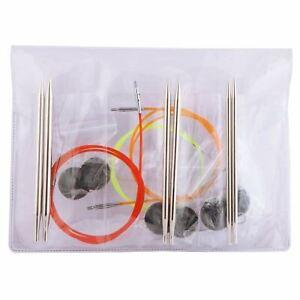 KnitPro Nova Metal Starter Interchangeable Circular Knitting Needle Set